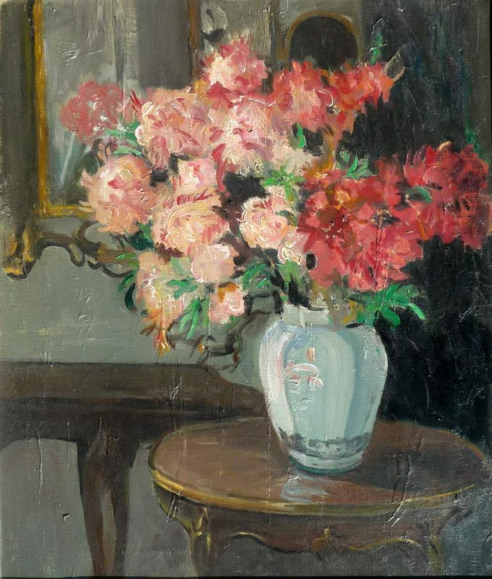 Interior with flowers on a table
