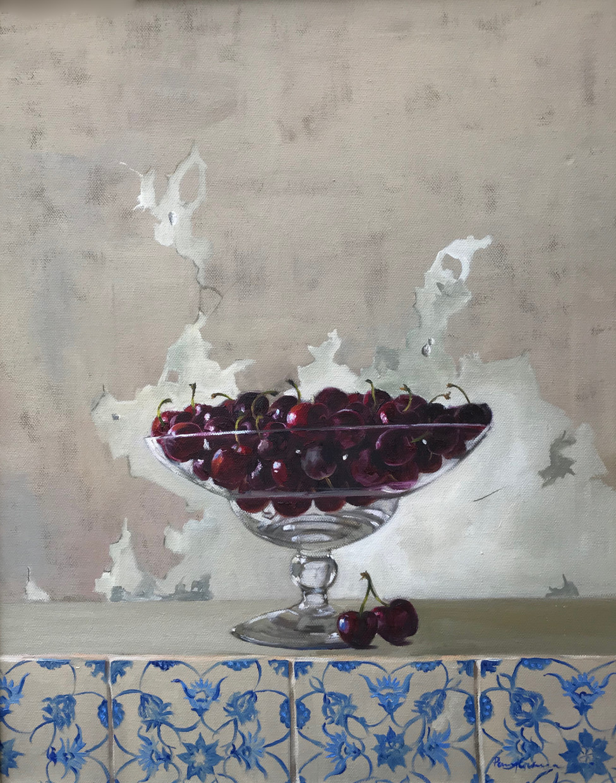 Cherries on tiles