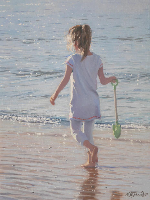 On a warm seashore