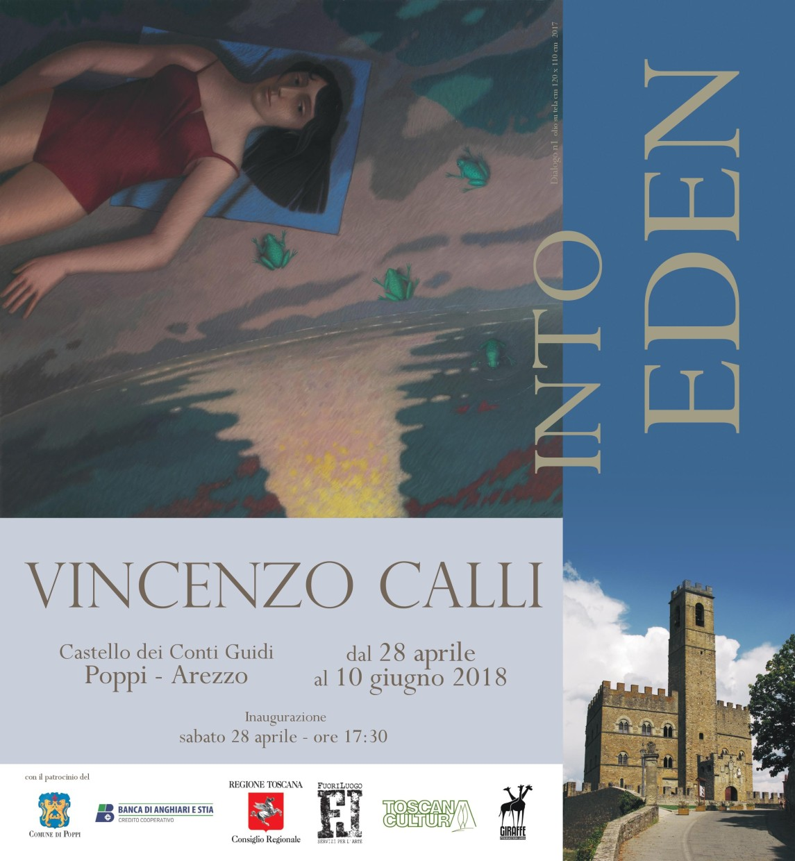 Vincenzo Calli Solo Exhibition at Castello di Poppi dei conti Guidi, a medieval castle in Tuscany.