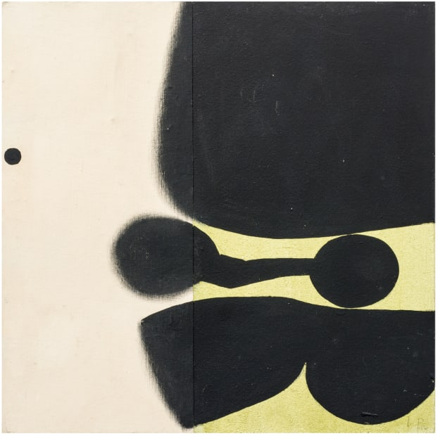 Victor Pasmore, Black, White and Green, 1977
