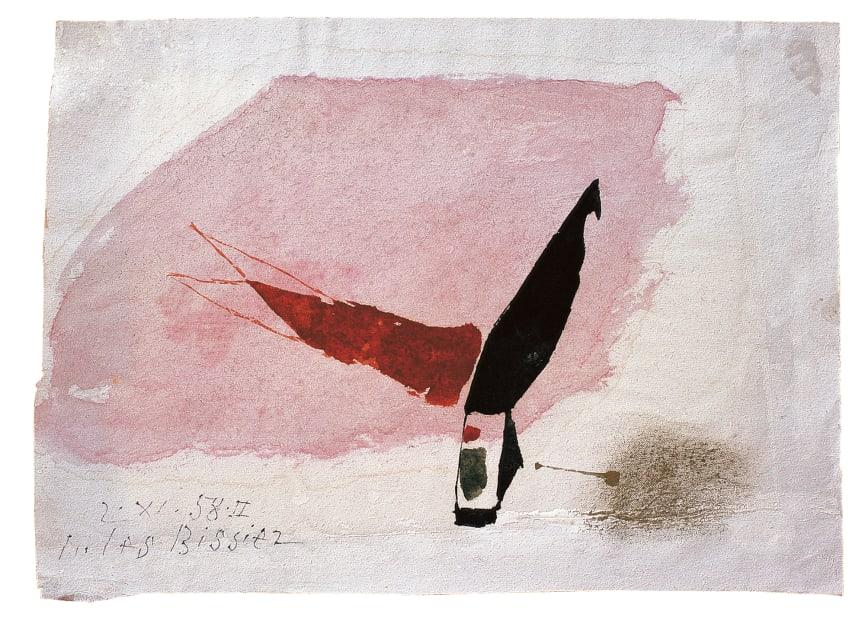Julius Bissier, 2. XI. 58. II , 1958