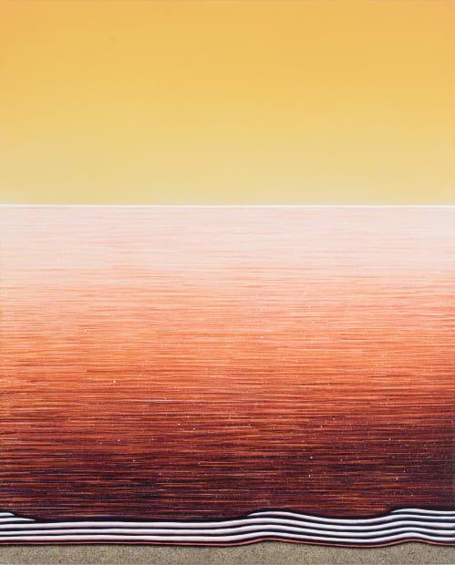 Matthew F Fisher, Orange and Yellow, 2019