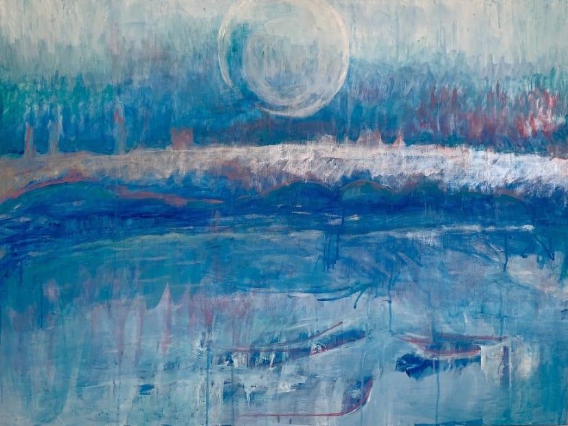 Full Moon Over Flagler Bridge