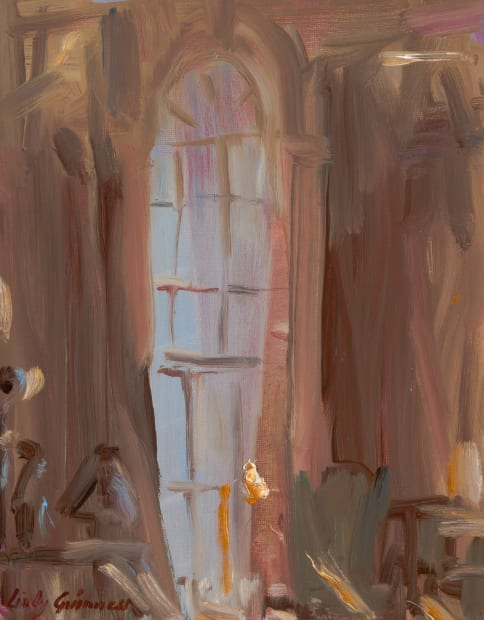 Lindy Guinness, A Warm Glow, A Library Corner, 2020