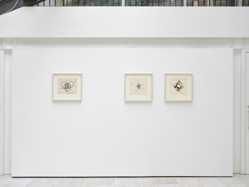 Installation View of Cecilia Brunson Projects Exhibition - Victor Magariños D.: Works on Paper