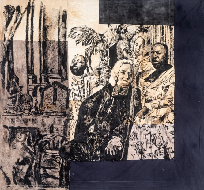 Roméo Mivekannin, Lord Jonimo with the Moorish Woman, after J. S. Mock - Série Modèle Noir, 2019