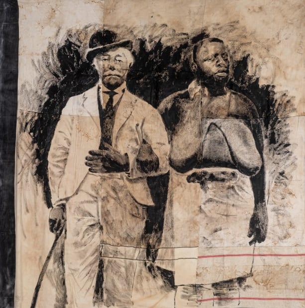 Roméo Mivekannin, Black and White (cliché de C. Coutinho, Mozambique, 1907) - Série Barnum, 2019