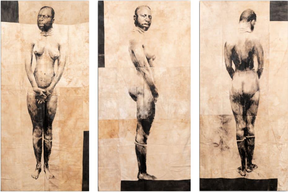 Roméo Mivekannin, Collection anthropologique du Prince Bonaparte, Triptyque - Série Barnum, 2019