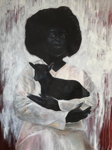 Elladj Lincy Deloumeaux, Marianne et l'agneau, 2020
