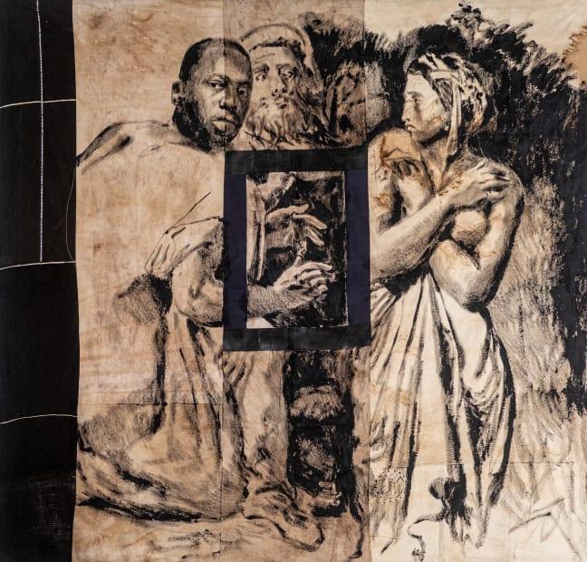 Roméo Mivekannin, Suzanne et les vieillards, after T. Chassériau - Série Modèle Noir, 2019