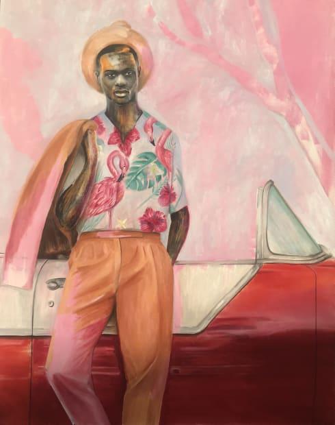Elladj Lincy Deloumeaux, Hibiscus rouge, 2020
