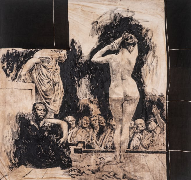Roméo Mivekannin, Marché aux esclaves à Rome, after J.-L. Gérôme - Série Modèle Noir, 2019