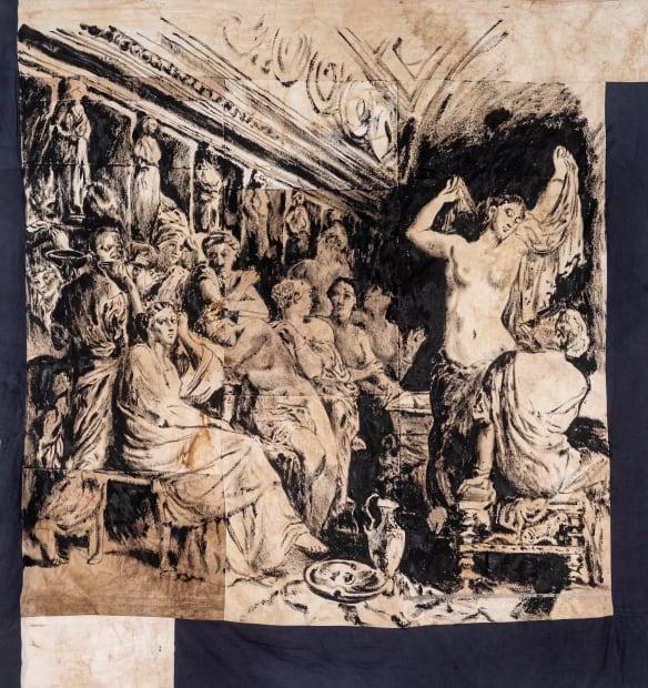 Roméo Mivekannin, Tépidarium, after T. Chassériau - Série Modèle Noir, 2019
