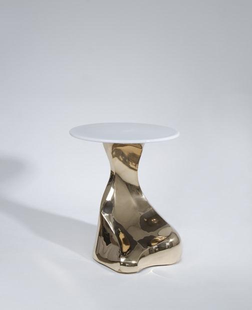 "Guéridon ""Stromboli"" bronze poli"