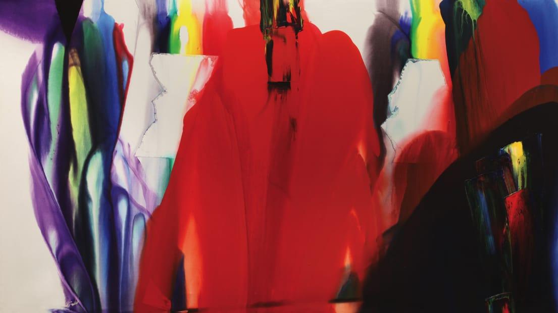 Paul Jenkins, Phenomena annex of red eminence, 1988-1990