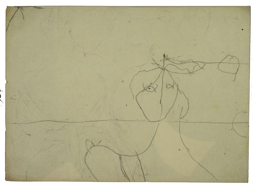 Osvaldo Licini, 15_8 Studio personaggio o Amalasunta, 1949-1950?