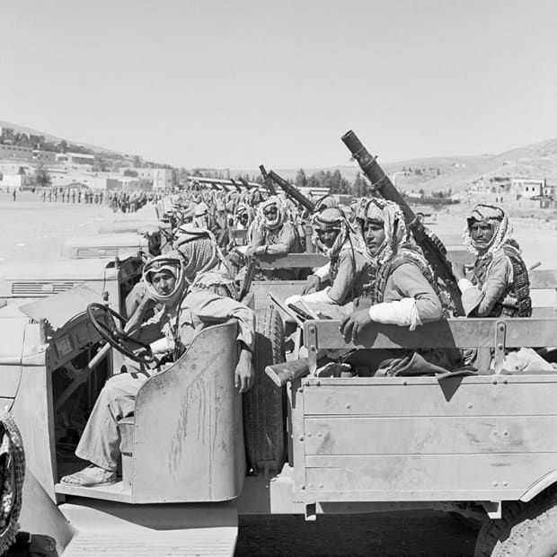 George Rodger, The Arab Legion. Soldiers of the Arab Legion, Transjordan, 1941.