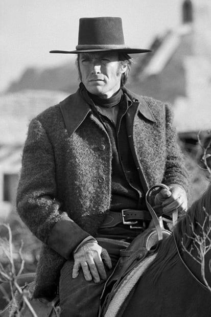 Terry O'Neill, Clint Eastwood on the set of 'Joe Kidd', 1972