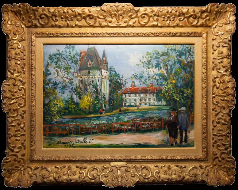 Maurice Utrillo, Château de Saintines, Oise, 1925
