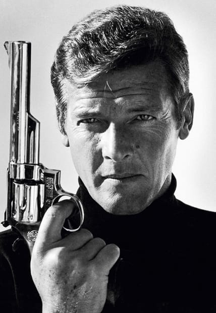 Terry O'Neill, Roger Moore as James Bond, late 1970s.