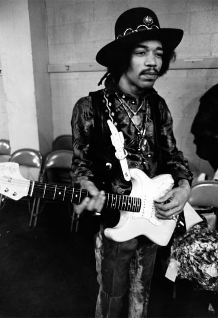 Ulvis Alberts, Jimi Hendrix. Before the concert in Seattle, 1996