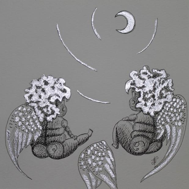 Alena Vavilina, Moon Collection having rest #6, 2018