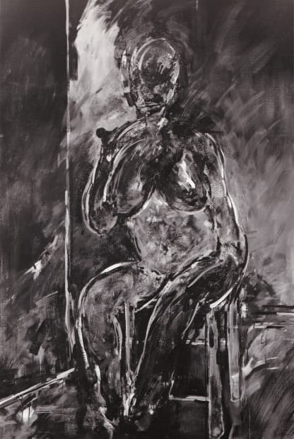 Stephen Finer, Woman on a stool, 1981-82