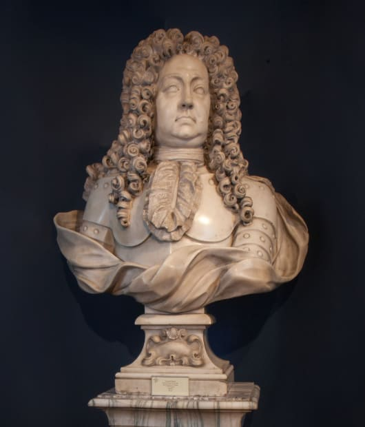 Giuseppe Rusnati, Bust of Cesare II Visconti, third Marquis of Cislago (r. 1674-1716), c. 1674-79