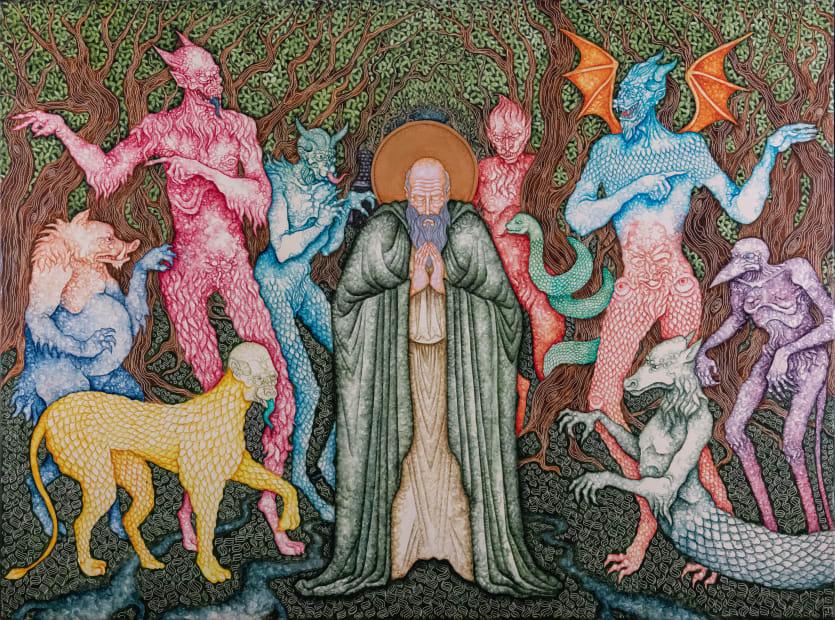 Joe Machine, Saint Guthlac assailed by the demons, 2020