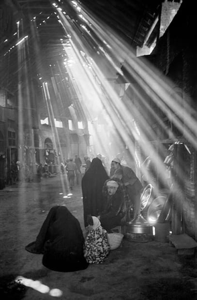 George Rodger, Baghdad. Light streaming into the ancient suqs of Baghdad, Iraq, 1952.