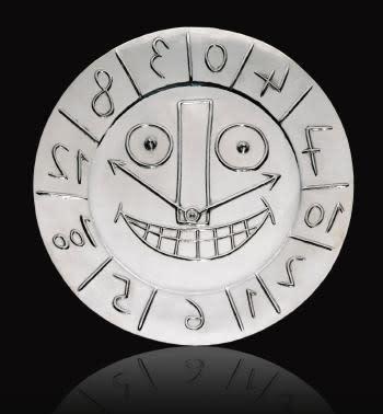 Pablo Picasso, Visage en forme d'horloge (Ref: 1425)