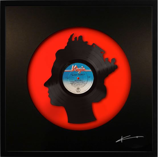 """Keith Haynes, God Save The Queen 12"""" Black on Red"""
