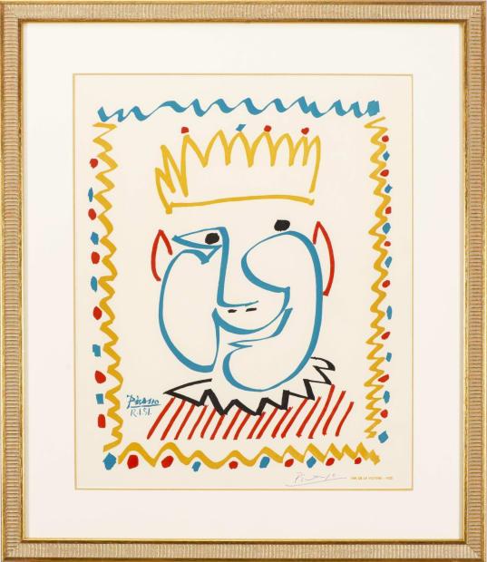 Pablo Picasso, Tete de Roi, Affiche pour le Carnaval de Nice, 1951