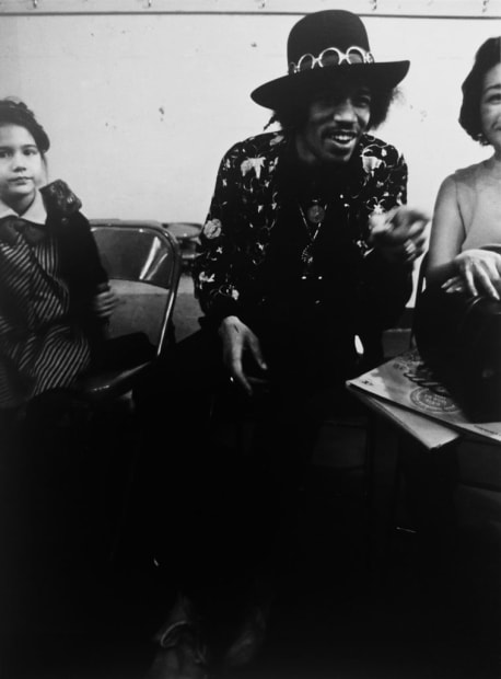 Ulvis Alberts, Jimi Hendrix. Before the concert in Seattle. With Sister Jenny, 1996