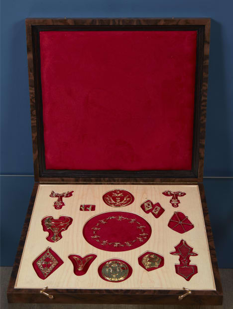 Jean Cocteau, Complete set of thirteen jewels in bespoke presentation box