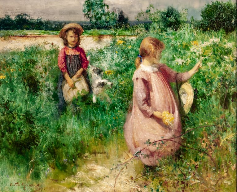 Arthur Hacker, Picking Wild Flowers, 1897
