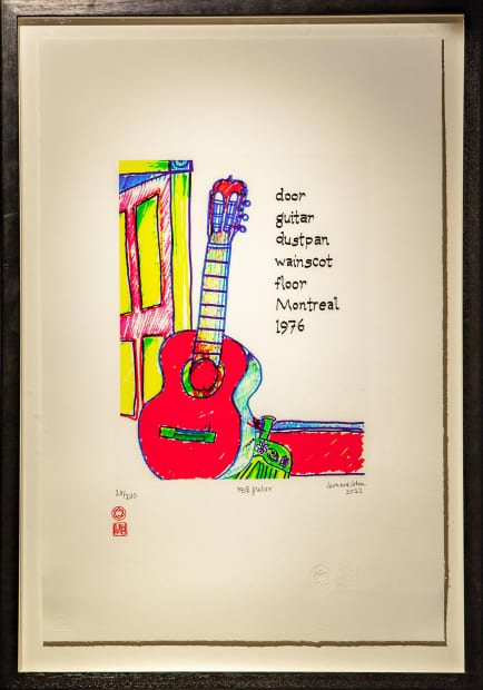 Leonard Cohen, Red Guitar, 2012