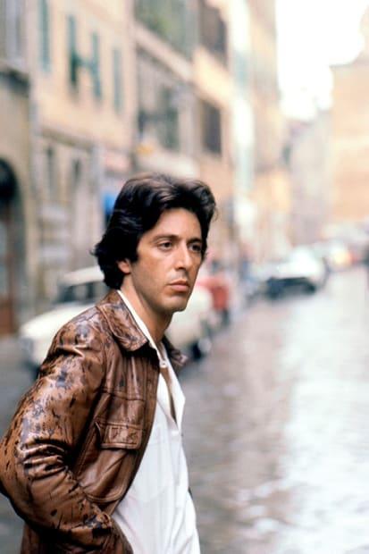 Eva Sereny, Al Pacino on set of 'Bobby Deerfield' in 1977.