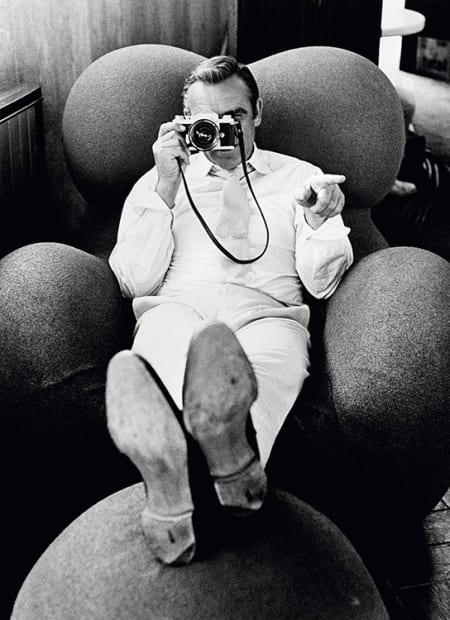 Terry O'Neill, Sean Connery on the set of 'Diamonds Are Forever', Las Vegas, 1971 (camera)