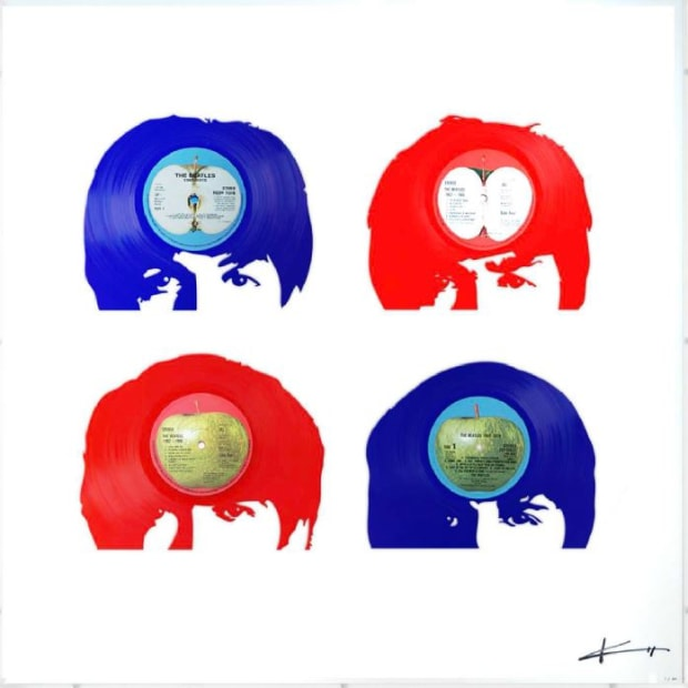 Keith Haynes, The Beatles - Fab Four Red, White and Blue