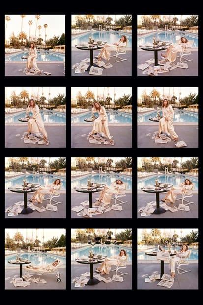Terry O'Neill, Faye Dunaway, Beverly Hills Hotel, 1977 (contact sheet)
