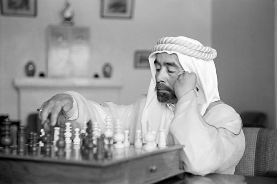 George Rodger, His Hashemite Highness Emir Adbullah ibn Hussein of Jordan, later to become King, Jordan, 1941.