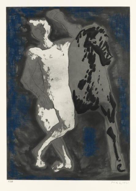 Marino Marini (Italian, 1901-1980), Omaggio a Michelangelo, 1975