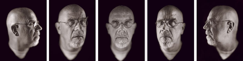 Self-Portrait (5 Heads), 2002