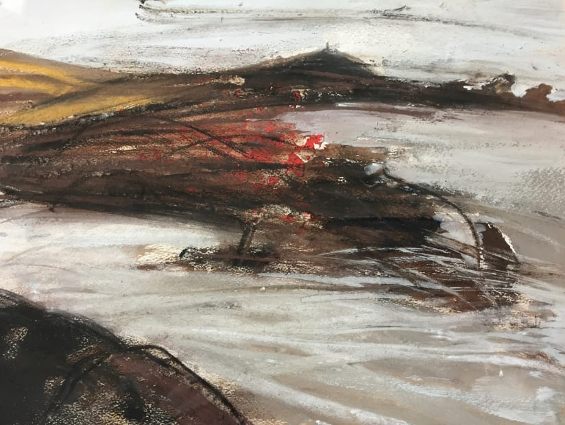 Margo Maeckelberghe, Cape in White, Penwith, 2000