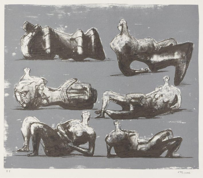 Henry Moore OM CH, Six Reclining Figures [Cramer 298], 1973