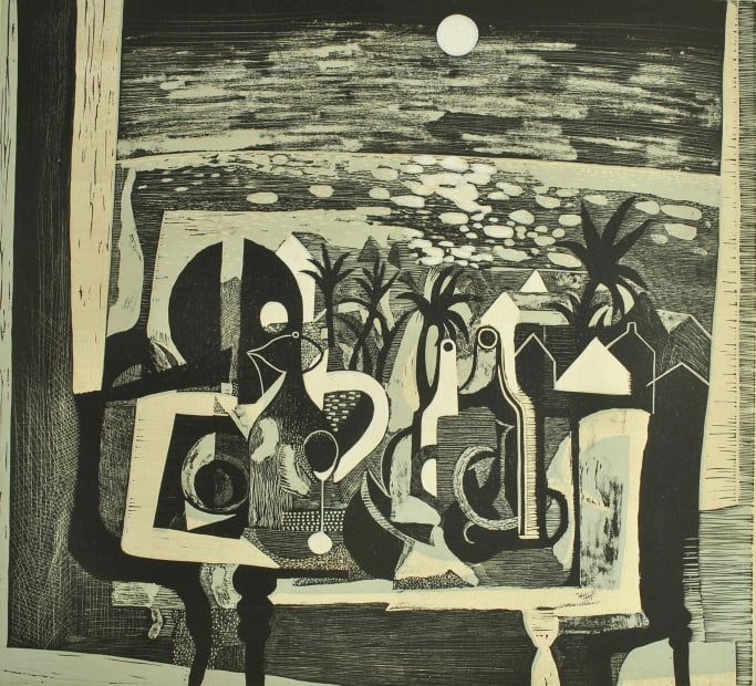 Trevor Price, Hepworth and the Moonlit Palms, 2021
