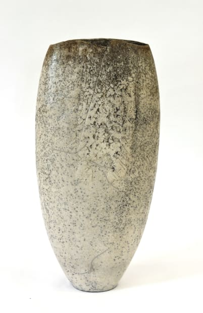 Stephen Murfitt, Tall White Textured Vessel, 2020