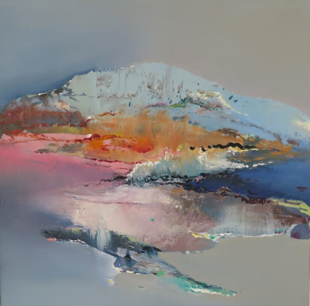 Mountain Peaks with Pink and Blue, 2017